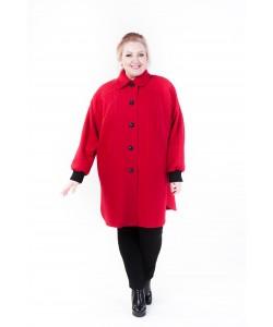 """Демисезонное пальто """"Одри"""" цвет красный"""