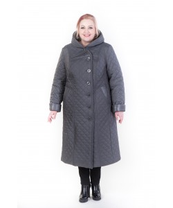 """Зимнее пальто """"Дарина"""" темно серый"""