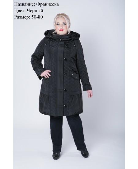 Пальто демисезонное Франческа черный