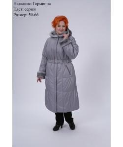 Пальто зимнее Гермиона  серый