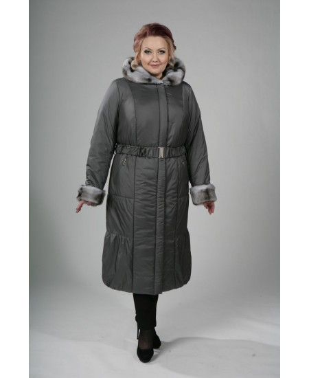 Пальто зимнее Гермиона темно серый