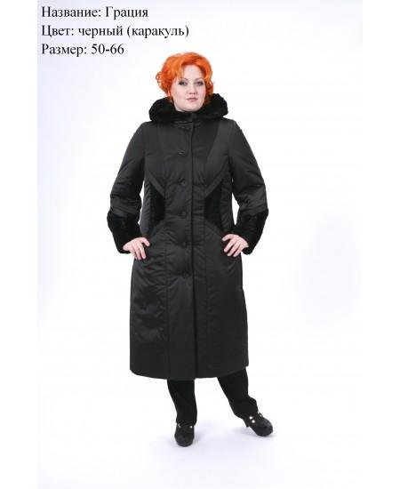 Пальто зимнее Грация черный