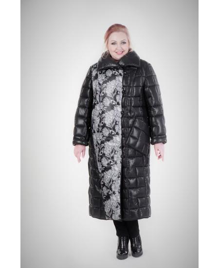Пальто зимнее Шерил цвет черный