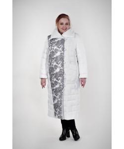 Пальто зимнее Шерил цвет белый