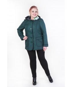 """Демисезонная куртка """"Августа"""" цвет темно зеленый"""