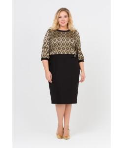 Платье 416076 цвет черно-золотой