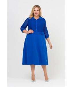 Платье  416081 цвет василек