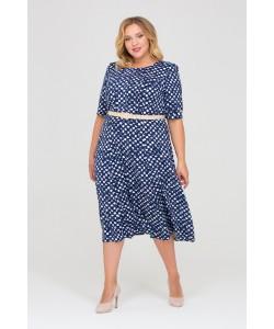 Платье 417031 цвет синий