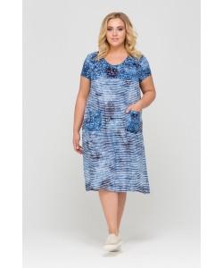 Платье 417007 цвет голубой
