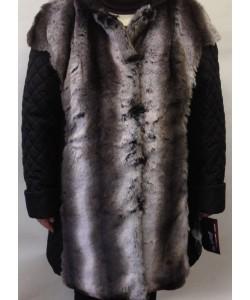 Полушубок Лайма цвет серый