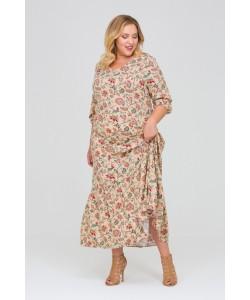 Платье 417035 цвет бежевый
