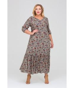 Платье 417035 цвет хаки