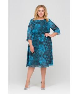 Платье 417002 цвет синий